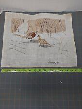 New ListingVtg Pheasant Needlepoint Canvas