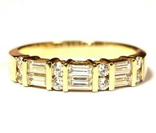 14k yellow gold cubic zirconia cz womens anniversary band 4.5g estate