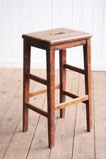 Vintage Retro Wooden Lab Stool Mid Century Retro