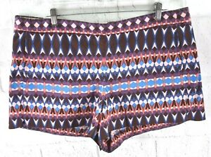 New J.Crew Women's Cotton Pique Shorts Gemstone Print Style #A6430 Stretch Sz 16