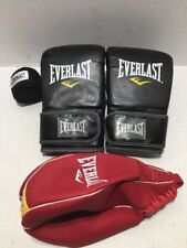 Everlast Kit Boxing Gloves 4 Lbs Speed Bag Red and Hand Graps Black