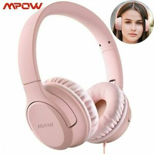 MPOW Children's Wired Headphones pink Model: BH385A