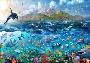 Fototapete Tapete Unterwasserwelt ca. 335 cm x 236 cm Wandtapete Kinderzimmer