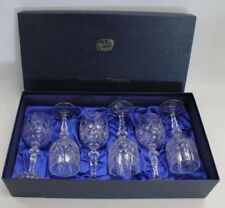 Czech/Bohemia Wine Glass Clear Crystal & Cut Glass