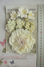 IVORY - 13 Flowers 1 Tones 4 Styles = PAPER  Flowers 20-95mm HH