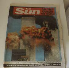 SEPTEMBER 11 2001.9/11 TWIN TOWERS TERRORIST ATTACK ORIGINAL SUN NEWSPAPER