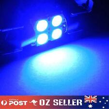 12V Blue Interior Festoon Read LED Dome Light 4SMD 5050 Globe 31mm Ultra Bright