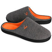 VONMAY Men's Comfort Memory Foam Slippers Cozy Slip on Anti-Skid House Shoes
