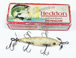 Beautiful Heddon 150 Dowagiac Underwater Minnow Lure Salt Flitter In Box