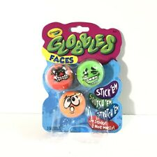 """TikTok Jukers """"GLOBBLES"""" Crayola """"New Slime!"""" 3 Colors W/Faces No mess! New"""