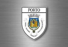 Autocollant sticker voiture moto blason ville drapeau porto portugal