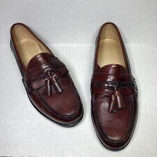 VTG FootJoy Tassel Loafer Dark Brown US 9.5 D Made in USA Leather Shoes