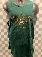 Vintage FLORIDA Green Palm Trees Tank Top T-Shirt Size L