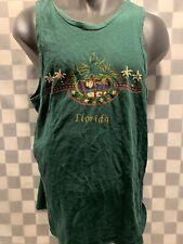 Vintage FLORIDA Green Palm Trees Tank Top T-Shirt Size L