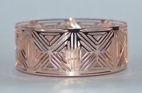 BATH & BODY WORKS ROSE GOLD GEOMETRIC LARGE 3 WICK CANDLE HOLDER SLEEVE 14.5 OZ