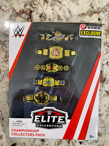 WWE Ringside Collectibles Exclusive Championship Collectors Pack Belt 5 Pack