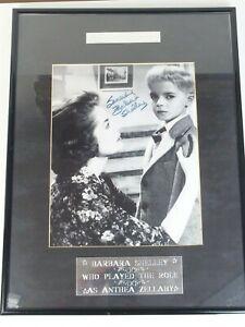 Autogramm - Film-Foto gerahmt - Village of the Damned - Barbara Shelley original