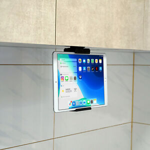 Universal Kitchen Cabinet Mount Holder, Phone & Tablet Mount with Clamp for iPad
