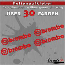 4er SET - BREMBO Sponsoren-Folienaufkleber Auto/Motorrad - 30 Farben - 8cm