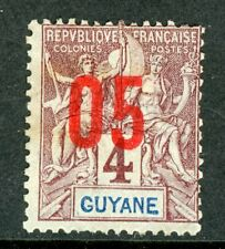 Guyane 1912 French Guiana 5¢/4¢ Scott #88 Mint H533