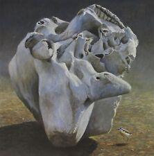 Robert Bateman Art Print Elephant Skull and Kittlitz's Plover Raft of Otters Sea