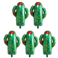 5pcs Lovely Cactus Aluminium Foil Balloon Baby Shower Birthday Party Decor