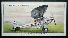 PANDER EG100  Light Aircraft   Original 1935 Vintage Card