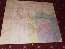 100% ORIGINAL LARGE SCALE FOLDING RUGBY AREA MAP BY O/S  C1906 VGC