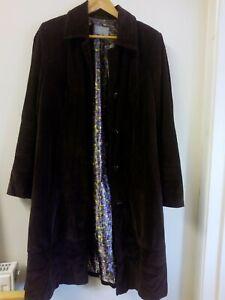 Per Una Long Brown Corduroy Coat Size 16