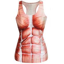 Women Summer T-shirt Punk Racerback Tank Top Vest 3d Print Camisole HL #1 Skeleton a One Size
