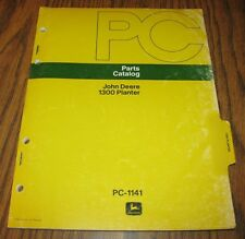 John Deere Dealers 1300 Plate & Plateless Planter Parts Catalog Manual PC1141 jd