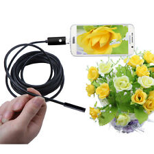 50M 7mm IP67 2in1 Android Waterproof Endoscope Borescope Inspect Camera 6LED