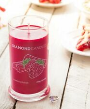 Diamond Candles Retired Scent: Strawberry Rhubarb Condition:New Soy Candle