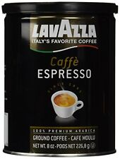Lavazza Caffe Espresso Ground Coffee, 8-Ounce Cans (Pack of 2), New, Free Shippi