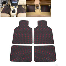 Car PU Leather Waterproof Non-slip Floor Protector Mats 4Pcs Set For All Weather