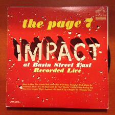 THE PAGE 7 IMPACT-AT BASIN STREET EAST-MONO LP-RCA
