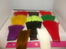 "6"" Fishair  Original fish hair Made in USA 70 denier green white chartreuse red"