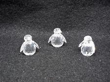 Swarovski Crystal Figurine 3 Mini Penguins #209588, 7661 NR 000 003, Mint in Box