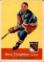 1957-58 Topps 1957-58 Topps #66 Dave Creighton NY RANGERS 400504