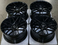 "18x9 MRR GF7 Wheels Gloss Black 18"" 5x100 Fits Scion FRS BRZ TC Rims Set 4"