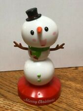 Solar Powered Dancing Bobble Head Toy New for 2019 - CHRISTMAS SNOWMAN