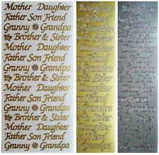 Anita/'s Relatives Messages Mum Dad Son Gran Nan Sister Daughter Brother Stickers