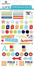 Life Organized Planner Calendar Stickers School Days Books Apples Stars Events