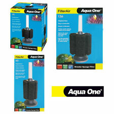 Aqua One FilterAir Aquarium Fry Fish Tank Biochemical Sponge Filters 30 60 136