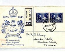 CS286 South Africa SILVER WEDDING FDC 1948 ILLUSTRATED First Day Cover ROYALTY