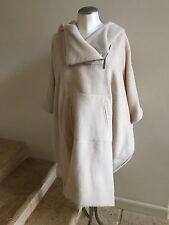 New w/o Tags ZERO + MARIA CORNEJO Beige Pei Hooded Wool Poncho Coat Size M/L