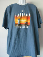 BLUE XL HALIFAX NOVA SCOTIA TEE SHIRT canada canadian NS N.S. T extralarge