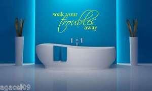 TOILET BATHROOM HOME WALL QUOTE VINYL DECOR STICKER DECAL STENCIL MURAL GRAPHIC