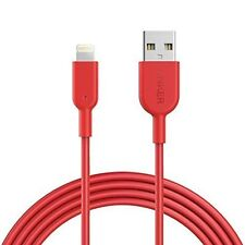 Anker PowerLine II Lightning Cable 6ft RED for Apple iPhone 8/X MFi Certified