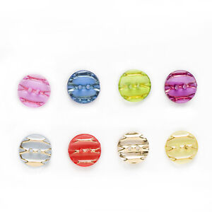 50 Resin Buttons Round for Sewing Scrapbooking Handwork Home Clothing Decor 13mm